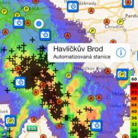 S aplikací iRadar CZ rychle zjistíte, odkud se žene déšť