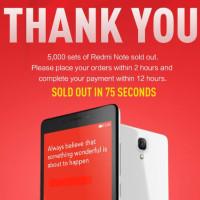 Skvělý phablet Xiaomi RedMi Note si koupilo za 75 sekund 5 tisíc lidí