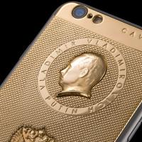Zlatý iPhone 6 s Putinem stojí 80 tisíc. Aby se neohnul, má rámeček z titanu