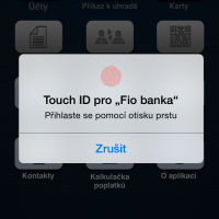 Fio banka umožňuje mobilní správu peněz pomocí otisku prstu