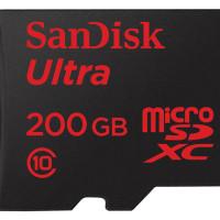 SanDisk začal prodávat microSD kartu s kapacitou 200 GB. Cena příjemně překvapí
