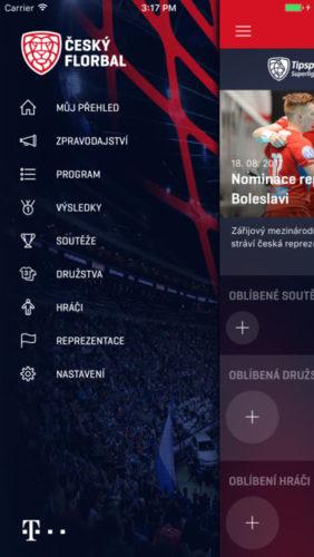 T-Mobile připravil mobilní aplikaci pro florbalisty