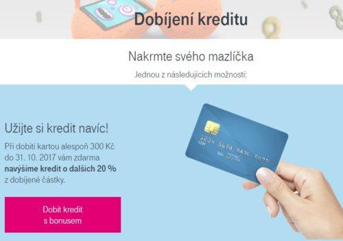 T-Mobile dává 20 procent kreditu navíc