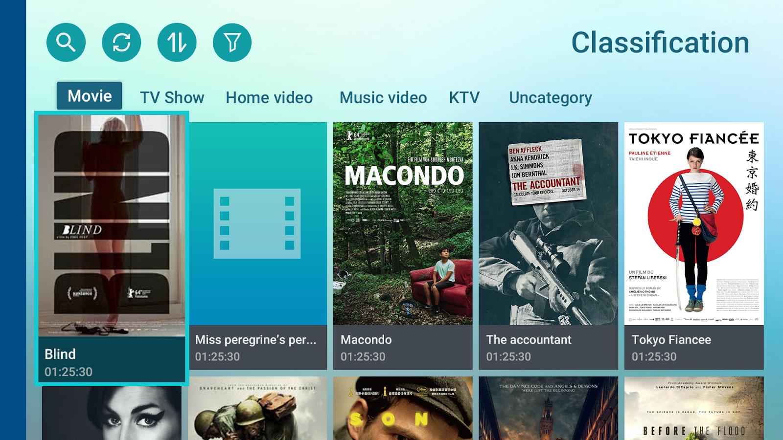 Pro televizory s Android TV je dostupná aplikace Qmedia