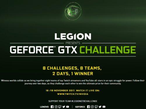 Lenovo Legion představuje GeForce GTX Challenge