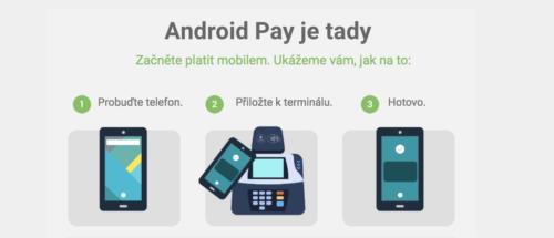 Android Pay je ode dneška oficiálně v Česku