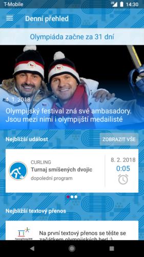 T-Mobile vydal mobilní aplikaci ZOH 2018