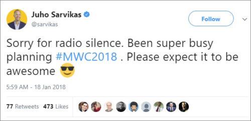Nokia tvrdí, že na MWC máme očekávat něco úžasného