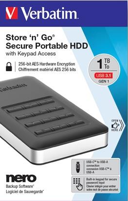 Verbatim začíná prodávat nové HDD a SSD s kódovací klávesnicí
