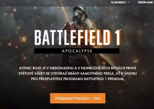 DLC Apocalypse pro Battlefield 1 dorazí příští měsíc