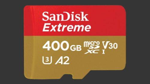 SanDisk představil rychlou 400GB microSD kartu