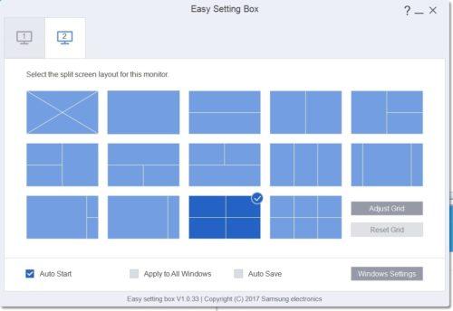 Samsung vydal speciální aplikaci pro své monitory: Easy Setting Box