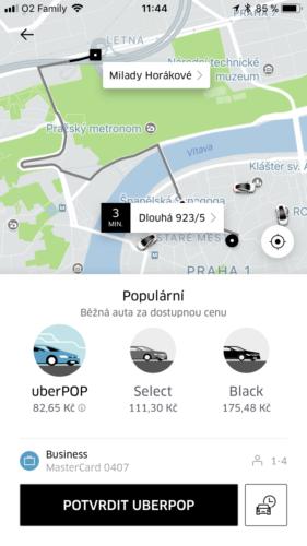 Cestující nyní v aplikaci Uber vidí přesnou cenu ještě před objednáním jízdy
