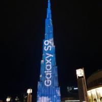 Mrakodrap Burdž Chalífa v Dubaji zastínil obří Galaxy S9