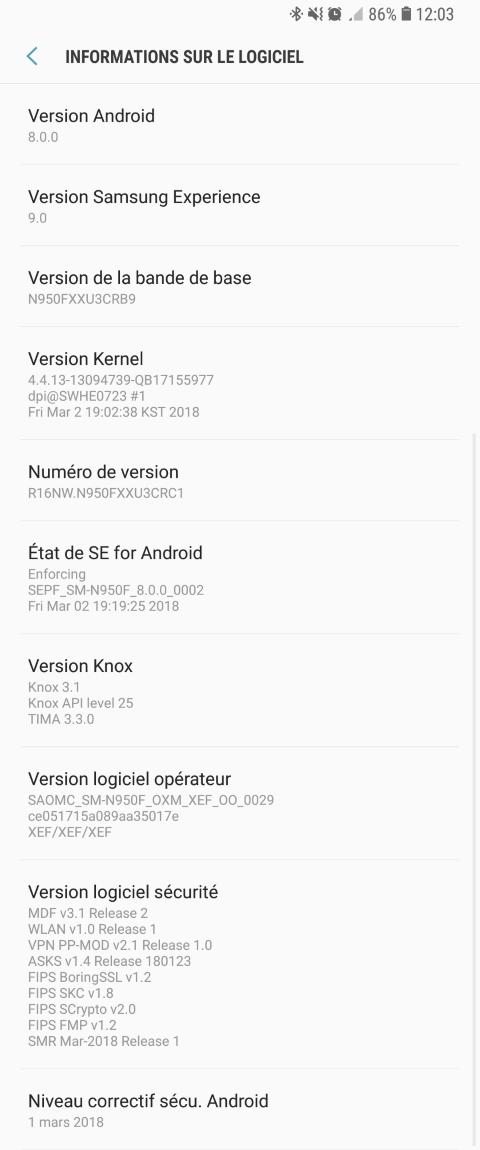 Majitelé Galaxy Note8 získávají Android 8.0 Oreo
