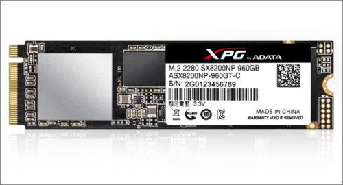 A-Data uvádí rychlý SSD XPG SX8200 s PCIe Gen3x4