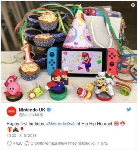 Nintendo Switch slaví první narozeniny