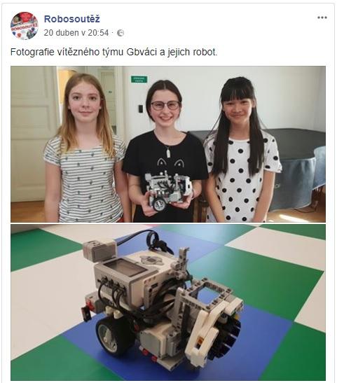 Robosoutěž ČVUT poprvé v historii vyhrál dívčí tým