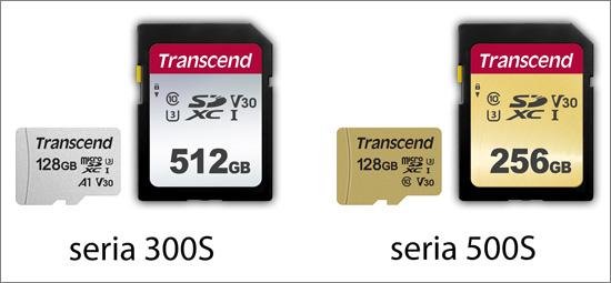 Transcend uvádí nové paměťové SD a microSD karty 300S a 500S