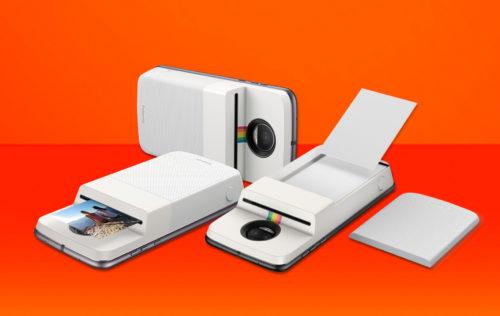 Přídavný modul udělá z Motoroly tiskárnu Polaroid