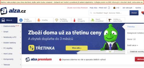 Alza.cz již druhý den nevydává objednávky