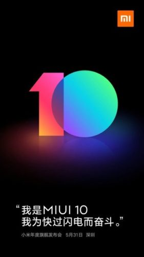 Prostředí MIUI 10 dorazí 31. května