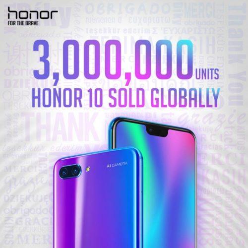 Honor 10 už má na kontě 3 miliony prodaných kusů