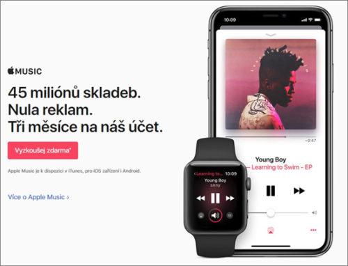 Počet platících uživatelů Apple Music se zvýšil na 45 milionů