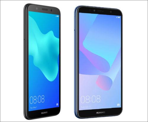 Smartphony Huawei Y6 Prime 2018 a Y5 2018 jsou v prodeji