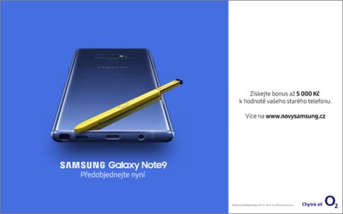 O2 spustilo predobjednávky na Samsung Galaxy Note9