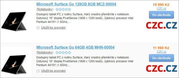 Pracovní tablet Microsoft Surface Go dorazí i do ČR