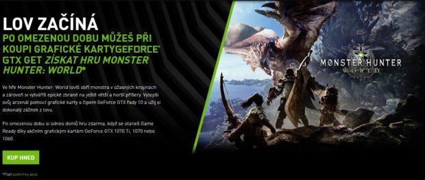 Po omezenou dobu můžete při koupy grafiky Nvidia GeForce získat hru Monster Hunter: World