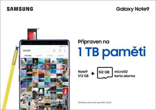 Nákupem Galaxy Note9 získáte 512GB microSD kartu zdarma!