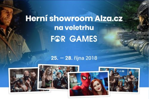 Alza vybuduje na For Games tento víkend herní showroom