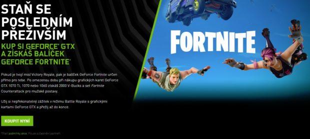 Fortnite Counterattack Set a herní měna ke grafickým kartám GeForce GTX