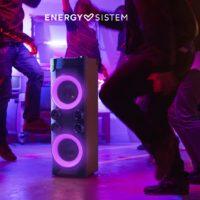 Reproduktor Energy Party 6 nabízí vstup pro mikrofon a kytaru i efektivní LED