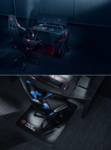 Trust uvedl do prodeje herní stůl a podložku pod křeslo