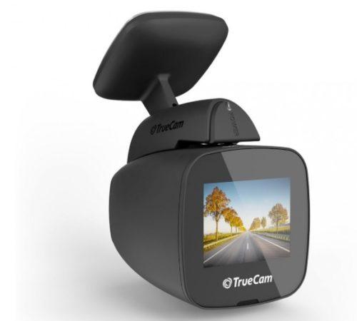 Kamera do auta TrueCam H5: nenápadná černá skříňka