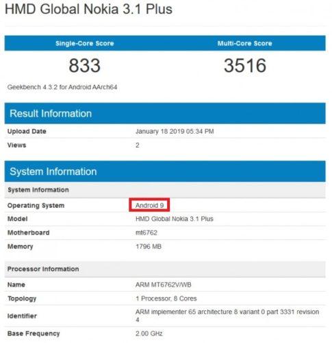 Android 9 Pie dostane i levná Nokia 3.1 Plus