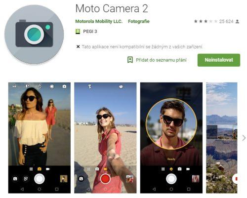 Aktualizace Moto Camera 2 přináší nové funkce