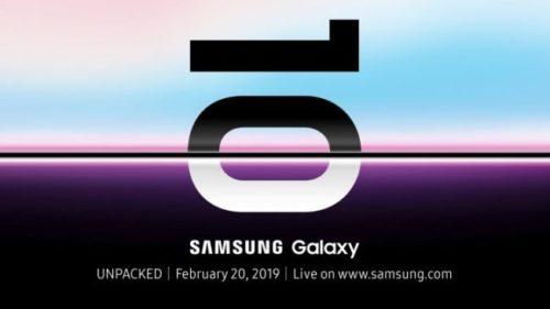 Samsung Galaxy S10 se oficiálně představí 20. února