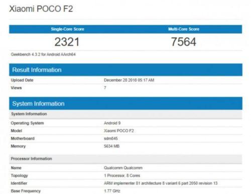 První střípky o chystaném Xiaomi Pocophone F2