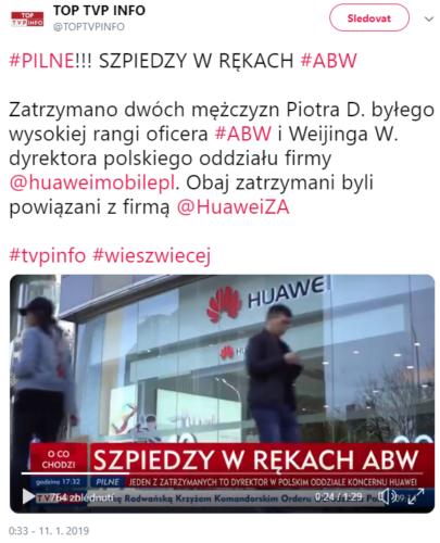 V Polsku byl zatčen zaměstnanec čínské firmy Huawei