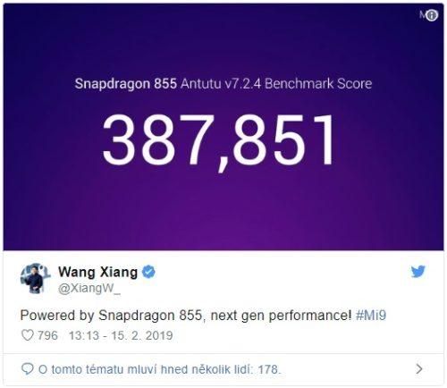 Výkon Xiaomi Mi 9 v benchmarku AnTuTu ohromí