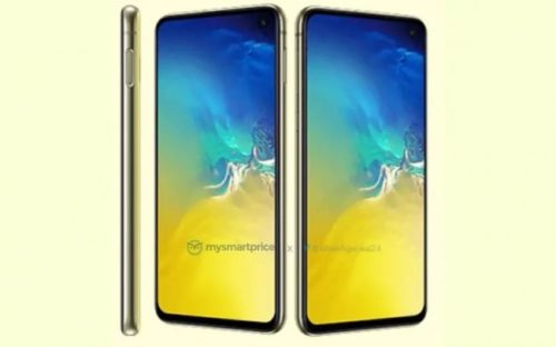 Samsung Galaxy S10e v zářivě žluté barvě