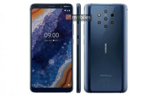 Nokia 9 s pěti objektivy na novém tiskovém snímku