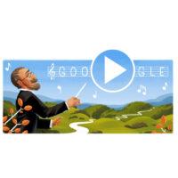 Google připomíná narození Bedřicha Smetany. První hudebně animovaný český Doodle uvidí i v Japonsku