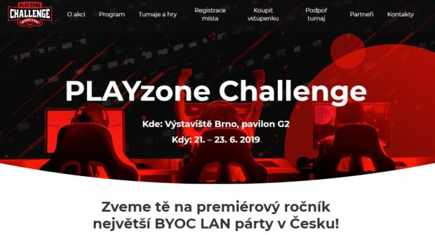 PLAYzone Challenge 2019: registrace na největší českou LAN akci spuštěny!