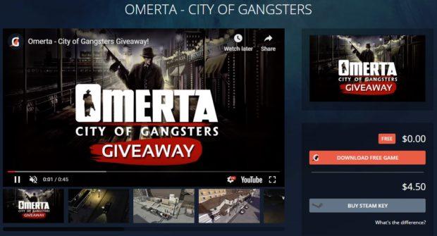 Získejte zdarma hru Omerta – City of Gangsters. Stačí odehrát 5 minut