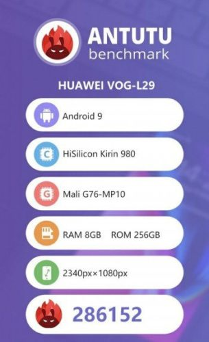 Huawei P30 Pro a jeho výkon v benchmarku AnTuTu